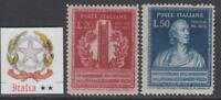 ITALY Repubblica - 1949 Volta cv 160$  MNH** VERY FINE