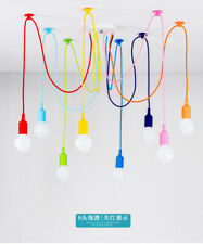 Colorful Siliconce Spider Shaped Ceiling Pendant Home Light Home Decor 2020