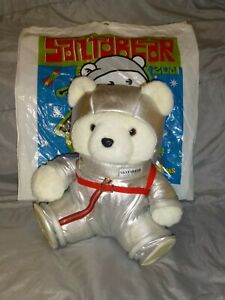 Astronaut Santa Bear Mission Planet Christmas 2001 with Bag