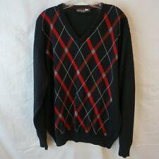 Maremma Italian Merino Wool Diamond V-Neck XXL