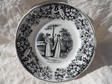 Ancienne assiette Creil et Montereau Jadis et Aujourd'hui Les modes de nos Mères