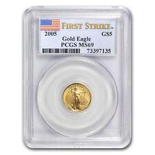1/10 oz Gold American Eagle MS-69 PCGS (Random Year) - SKU #83509