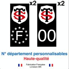 Stickers autocollant plaque d'immatriculation Stade TOULOUSAIN voiture NOIR