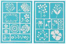 Martha Stewart Crafts Adhesive Stencils Blossoms Set 19 Designs 32269