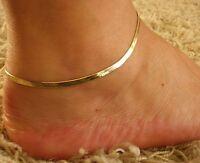 Women's Fashion Jewelry Silver Gold Color Chain Herringbone Anklet Bracelet 39-1
