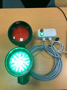 Ampel rot/grün LED, mit Fernbedienung und Kontrollleuchte 125mm, hell