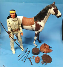 vtg 1960s Marx Johnny West lot 1 Geronimo Indian horse storm cloud & accessorie