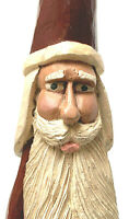 Folk Art Resin Santa Claus With Bag