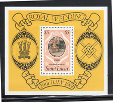 ST. LUCIA #546  1981  ROYAL WEDDING  MINT  VF NH  OG  S/S