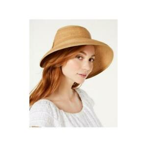 INC International Concepts Womens Bow Roll-up Visor Brown One Size