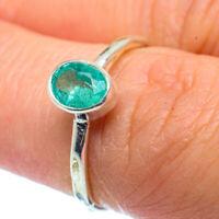 Zambian Emerald 925 Sterling Silver Ring Size 6.25 Ana Co Jewelry R37149F