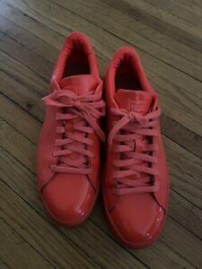 Puma Basket Classic Patent Leather Orange Men Size 10