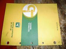 John Deere 3E 4E Backpack Blower Factory Technical Service Manual Tm 1336 7/85