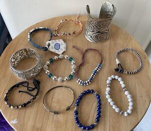 Bundle Job Lot 11 x Ladies Bracelets Bangles Costume Jewellery No Reserve!!