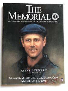 The Memorial Program 2001 Muirfield Golf Club Payne Stewart EX/MT