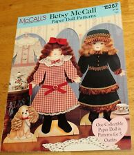 McCall's Creates: Betsy McCall Paper Doll Patterns #15247 - Doll & 5 Outfits
