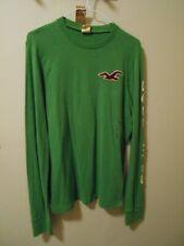 Hollister by Abercrombie Men's Green Long Sleeve T-Shirt Size Medium NWT