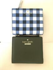 NWT Kate Spade Adalyn Wallet Cameron Street evergreen & Hyde Lane navy/white $88