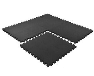 High Density Black Interlocking Foam Mats Gym flooring Exercise Fitness Tiles