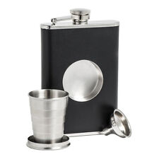 8oz Folding Bottle Telescopic Collapsible Shot Cup Travel Hip Flask With Funnel