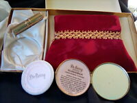 Vintage Compact W Lipstick Case Burgandy Purse In Original Gift Box DuBerry