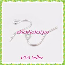50pcs Silver Plated Hook French Wire Simple Swoop Earrings Jewelry Findings 25pr