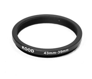 Stepping Ring 43-39mm 43mm to 39mm Step Down ring stepping Rings 43mm-39mm