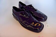 Men's After Six Size 13 M Black Patent Leather Dress Shoes Tuxedo Wedding Used