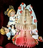 Precious Ombre Honeycomb Vintage Valentine 1910s Greeting Card Germany