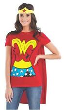 DC Comics Wonder Woman T-Shirt With Cape And Headband, Red,, Red, Size Medium