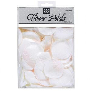 White Rose Petals Fabric Confetti 5cm (300 Petals)