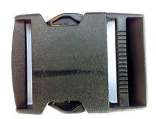 """Nexus Side Release Buckle 50mm (2"""")  Black Plastic Webbing Belt Buckle (SR50)"""