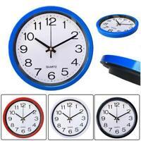 Round Wall Clock Quartz Silent Sweep Movement Home Bedroom Kitchen Clocks Decor