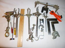 Misc. Lot; 4 LAB 3 PRONG HEAVY DUTY EXTENSION CLAMP,DUAL TENSION+other odd items