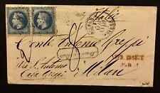 France 20+20 Cent 1867 Parigi Insuff. 2' Port Italy Tax 8 Trouve A La Boite'