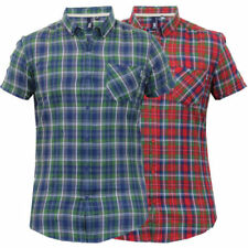 184449493 Short Sleeve Checked Casual Shirts & Tops for Men for sale   eBay