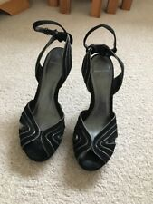 Carvela Ladies Black And Silver Shoes Size 40 Five Inch Heel