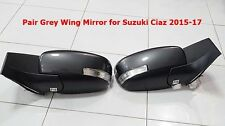 PAIR SUZUKI CIAZ 2015-17 GREY WING MIRROR ELECTRIC FOLDING LAMP CORNER