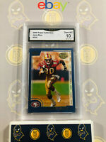 2000 Topps Collection Jerry Rice #310 - 10 GEM MINT GMA Graded Football Card