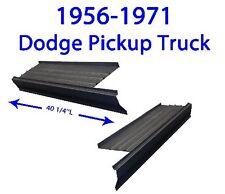 1956-71 DODGE PICKUP TRUCK ROCKER PANELS W/STEP PLATE NEW PAIR!!