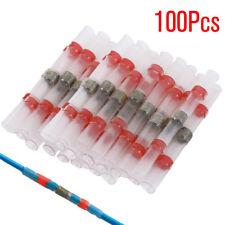 100pcs Red Heat Shrink Solder Sleeve Butt Splice Wire Connector Waterproof