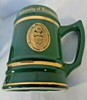 Vintage University Of Tennessee Green Gold Logo Letters Ceramic Stein WC Bunting