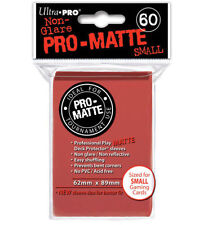 Ultra Pro Deck Protector Small Matte 60 Card Sleeves RED YuGiOh Vanguard