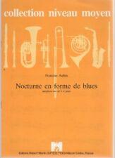 Nocturne en forme de blues pour Saxophone Alto Mi b et Piano
