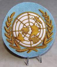 U.N United Nations Hand Embroidered UN Blazer Crest Badge