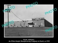 OLD 8x6 HISTORIC PHOTO OF OZARK ALABAMA THE WHITE KNIGHT FACTORY c1950