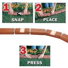 40 ft. Garden Landscape Lawn Edging Solar Light Bricks Plastic Brick Border Edge