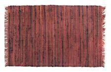 """Southwest Decor Rag Rug Runner, 24"""" x 72"""", 100% Cotton, Spicey Orange Color"""