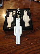 New Ikea 3/Set Christmas Solider Ornaments Decoration Ceramic White