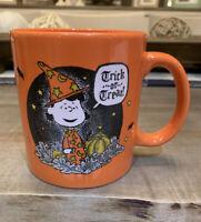 Peanuts Halloween - Lucy Trick or Treat Ceramic Orange Coffee Mug - NWT
